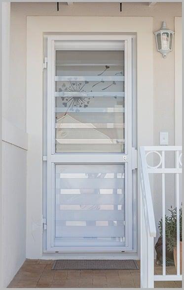 Clear Bars on Door