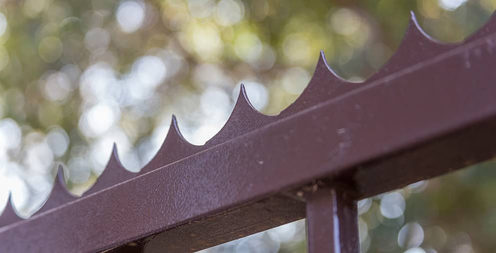 Close up of swing gate